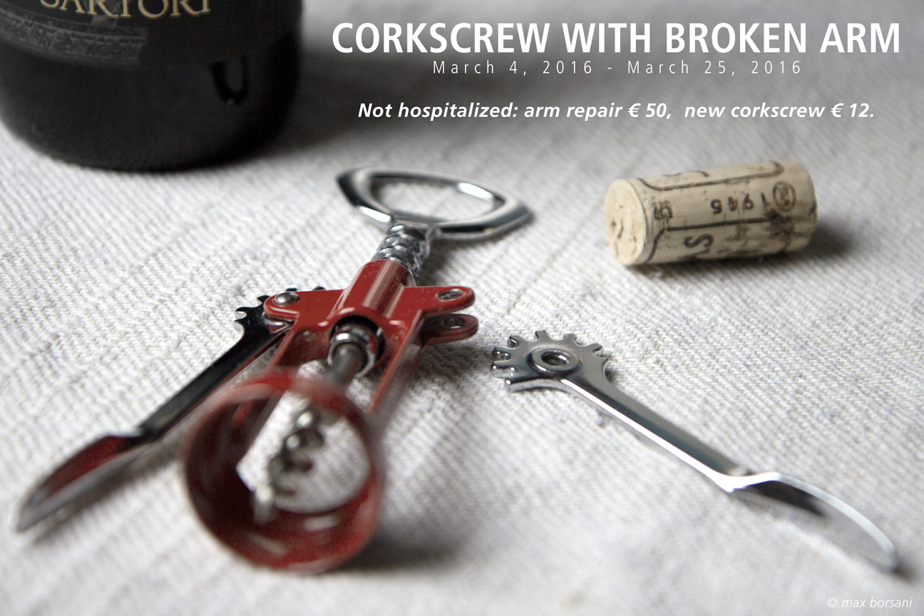 CORKSCREW WITH BROKEN ARM